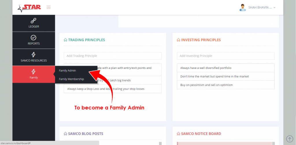 Become a Family Admin